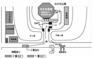 日本武道館マップ
