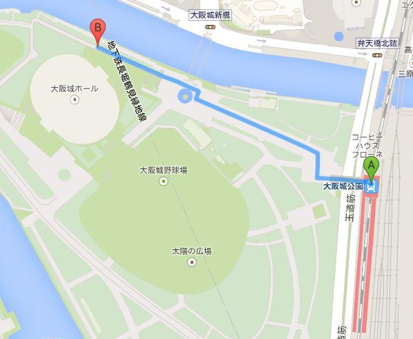 大阪城ホールマップ