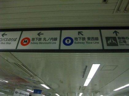 東京駅メトロ案内